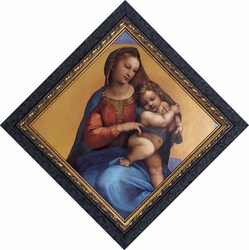 Madonna of Foligno (Detail) by Raphael - Framed Christian Art