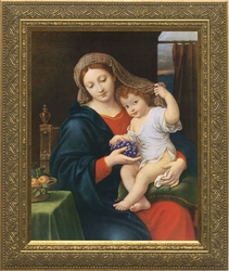 Madonna of the Grapes by Pierre Mignard - 4 Framed Options