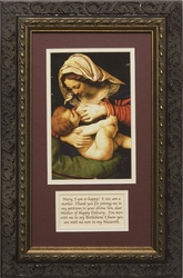 Madonna of the Green Cushion by Andrea Solario - Framed Christian Art