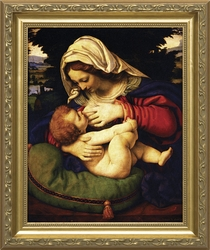 Madonna of the Green Cushion by Andrea Solario - 3 Framed Options