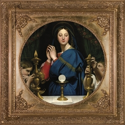 Madonna of the Host by Jean Auguste Dominique Ingres - 2 Spandrel Framed Options