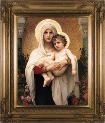 Madonna of the Roses Canvas by William-Adolphe Bouguereau