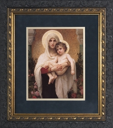 Madonna of the Roses by William Adolphe Bouguereau - 3 Ornate Dark Framed Options