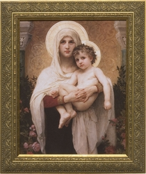 Madonna of the Roses by William Adolphe Bouguereau - 3 Framed Options