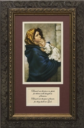 Madonna of the Streets with Prayer Framed
