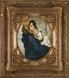 Madonna of the Streets by Roberto Ferruzzi - Spandrel Framed Christian Art