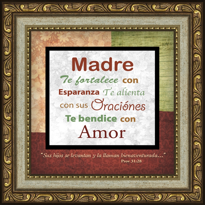 Glasses Frame In Spanish : Madre Framed Spanish Inspirational Gift LordsArt