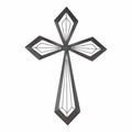 Mahogany Metal Wall Cross - Christian Home & Wall Decor