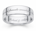 Male And Female Created He Them Bible Verse Wedding Ring - 14k White Gold