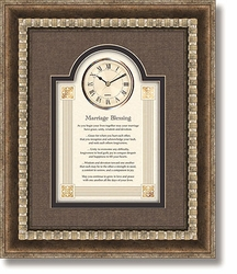 Marriage Blessing Framed Wall Clock by Heartfelt