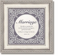 Marriage Matthew 19:6 Framed Tabletop Christian Verse