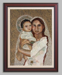 Mary and Christ as a Baby by Kathy Rice Grimm - 6 Framed & Unframed Options
