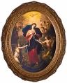 Mary, Undoer of Knots Canvas in Oval Frame - 3 Oval Framed Options
