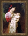 Maternal Admiration by William Adolphe Bouguereau - Framed Christian Art
