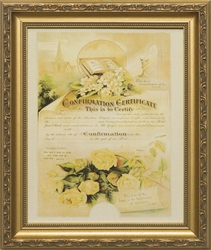 Memorial Certificate of Marriage Framed Christian Wall Decor