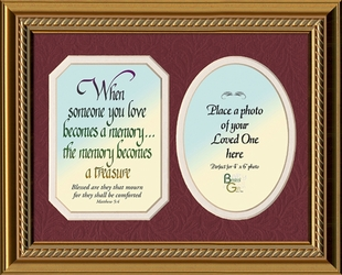 Memory Is A Treasure Poem & Photo Sympathy Gift