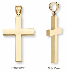 Men's Polished Cross Pendant - 4 Options Available