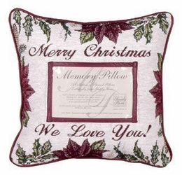 Merry Christmas Memory Pillow