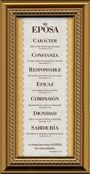 Mi Esposa (My Wife) Framed Spanish Gift - 5 Frames Available