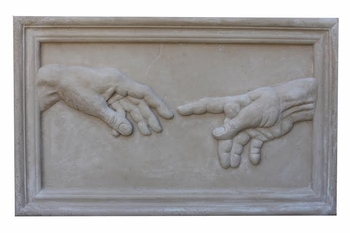 Michelangelo's Creation God-Adam's Hands by Dolan Anderson