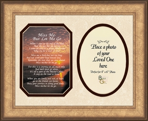 Miss Me Poem Photo - Framed Sympathy Gift