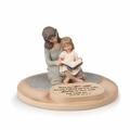 Mom With Daughter Devoted Sculpture - Christian Home Decor