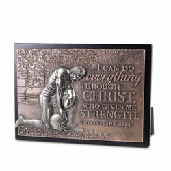 Moments of Faith Small Sculpture Football Plaque