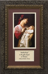 Maternal Admiration with Prayer Framed