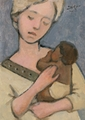 Mother And Child (Blonde and Brown) by J. Kirk Richards - 2 Selections