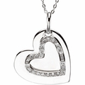 Mother and Daughter Heart Pendant & Chain