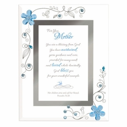 Mother- Blue Framed Christian Tabletop Home Decor