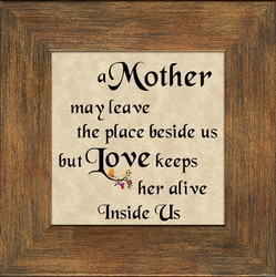 Mother Framed Christian Gift on Parchment Paper - 4 Frames Available