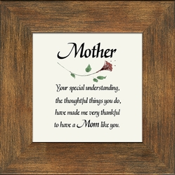 Mother's Day Framed Inspirational Gift - 4 Frames Available