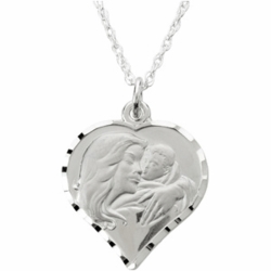 My Beautiful Child™ Heart Necklace by Susan Howard - 14K White Gold