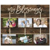 My Blessings Pallet Decor Photo Frame - Christian Home & Wall Decor
