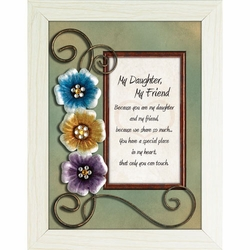 My Daughter, My Friend - Framed Christian Tabletop Home Decor