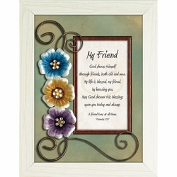 My Friend - Framed Christian Tabletop Home Decor