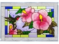 My Grace Is Sufficient Stained Glass Panel