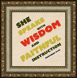 My Wife Proverbs 31 Framed Appreciation Gift - 4 Frames Available