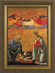 Nativity With Angels - Christian Art - 3 Framed Options