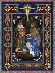 Nativity Christian Tapestry Throw