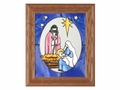 Nativity Christmas Stained Glass Art