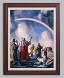 Noah and the Rainbow - 6 Framed & Unframed Options
