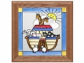 Noah's Ark - Stained Glass Panel