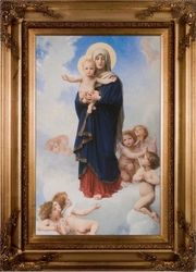 Notre Dame des Anges by William Bougereau Framed Canvas - 3 Options Available