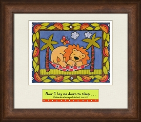"""""""Now I Lay Me Down To Sleep"""" Framed Art for Kids - 7 Frames Available"""