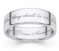 One Flesh Genesis 2:24 Sterling Silver Bible Verse Ring