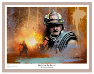 Only For The Brave by Danny Hahlbohm - Unframed Christian Art