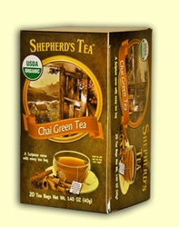 Shepherd's Organic Chai Green Bible Verse Tea