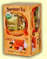 Shepherd's Organic Peach White Bible Verse Tea